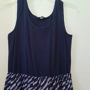 O.S.O. Casual Dresses - Tiered maxi dress navy and white size Large